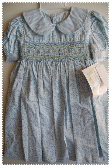 House of Hatten Light Blue Smock Dress size 24 months NWT