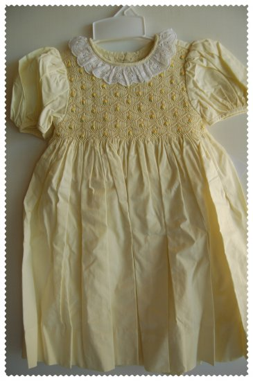 House of Hatten Yellow Smock Dress size 24 months NWT