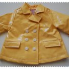 Gymboree Yellow Rain jacket size 3-6 months NWT