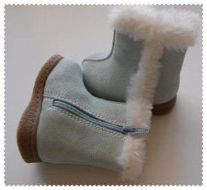 Gymboree Baby Boots Light Blue size 1 NWOT