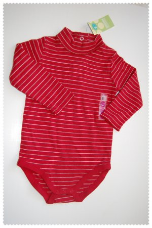 Gymboree Girls striped red onsie 12-18 months NWT