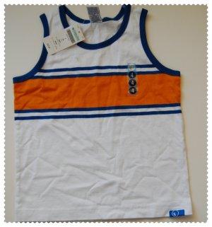 Gymboree Summer Sports White and Orange Tank size 4 NWT