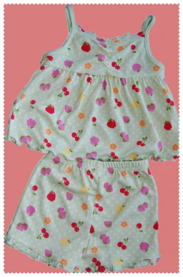 Gymboree Girl Fruit Sleepwear size 3 NWT