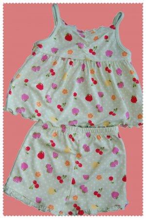 Gymboree Girl Fruit Sleepwear size 3 NWT