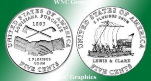 2004 S Jeff Nickel Proofs-Westward Journey* Both