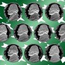 1980 - 1989 S Jeff Nickel Proof Set *10 Coins