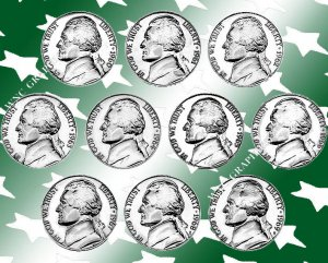1960 - 1969 Jeff Nickel Proof/SMS Set *10 Coins