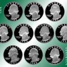 1980 - 1989 S Washington Proofs *10 Coins