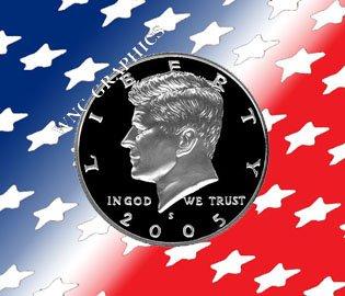 2005 S Kennedy Clad Proof Half *Nice Cameo*
