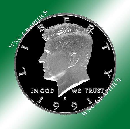 1991 S Kennedy Proof Half *Nice Cameo*