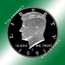 1991 S Kennedy Proof Half *Nice Cameo*