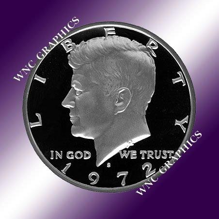 1972 S Kennedy Proof Half *Nice*