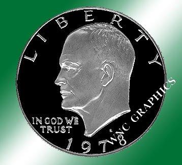 1978 S CN Eisenhower Proof Dollar *Nice*