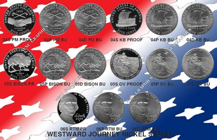 Westward Journey Proof & BU Nickel Set-All 15 Coins