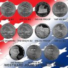 Westward Journey Proof & BU Nickel Set-All 15 Coins