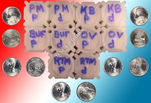 Westward Journey Nickel BU Roll Set-All 10 Rolls
