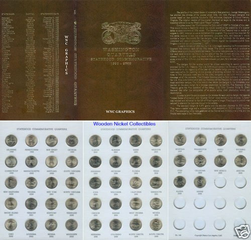 BU State Quarter Collection P Mint-Complete in Dansco Folder