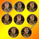 2000 - 2007 S Lincoln Proofs - 8 Nice Coins