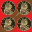 2003, 2004, 2005 & 2006 S Sacagawea Proof Dollars