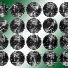 2000 - 2009 P & D BU  Kennedy Half Dollars *20 BU Coins
