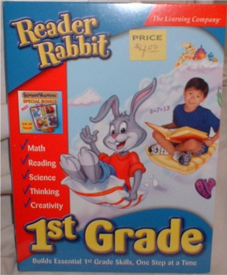 Reader Rabbit Grade ONE CD for computer  ***INCLUDES SHIPPING***