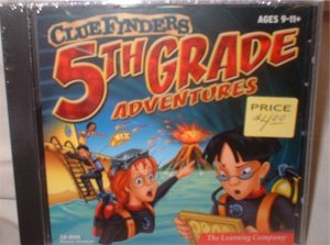 Clue Finders Adventures! Grade 5 CD for computer.  ***INCLUDES SHIPPING***