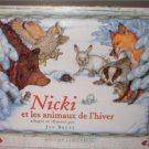 French homeschool language read book Jan Brett Nicki er les animaux del'hiver  INCLUDES SHIPPING