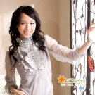 Lace Blouse-Grey