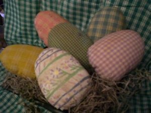 Homespun Easter Egg Ornies/Bowl Fillers