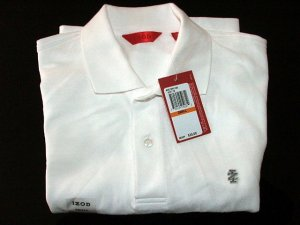 NWT Izod Mens Luxury Sport Polo Shirt White S $38