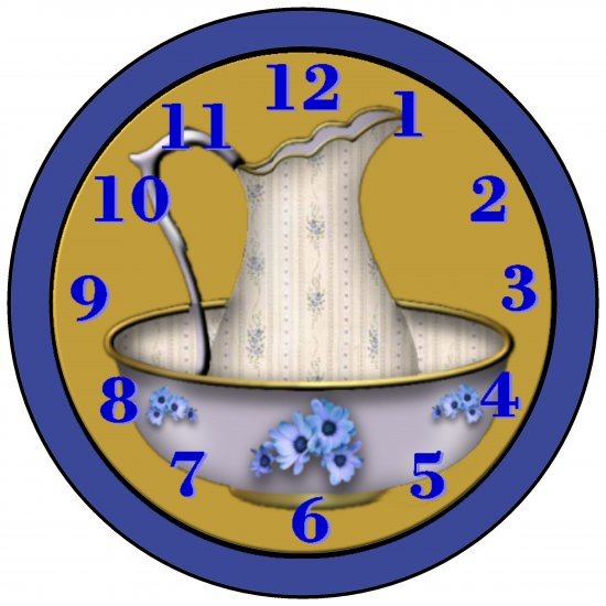 Pitcher and Bowl Clock face