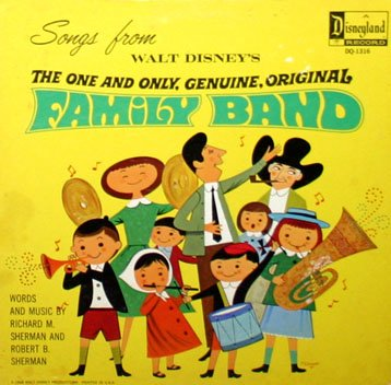 Songs from The One And Only Genuine Original Family Band - Walt Disney Soundtrack LP/CD