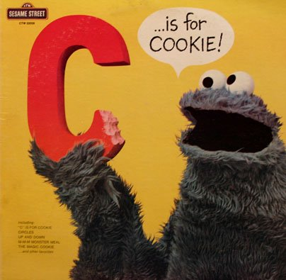 C Is For Cookie - Sesame Street Soundtrack, Cookie Monster LP/CD
