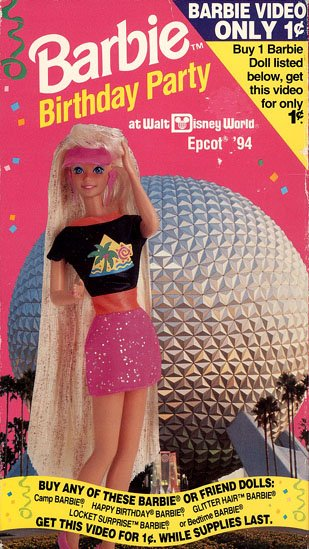 Barbie Birthday Party at Walt Disney World Epcot '94 - Limited Edition Video VHS/DVD