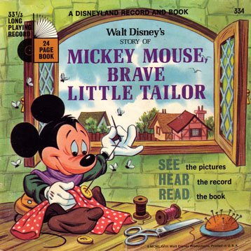 Walt Disney's story of Mickey Mouse, Brave Little Tailor - See-Hear-Read Soundtrack & Book EP/CD
