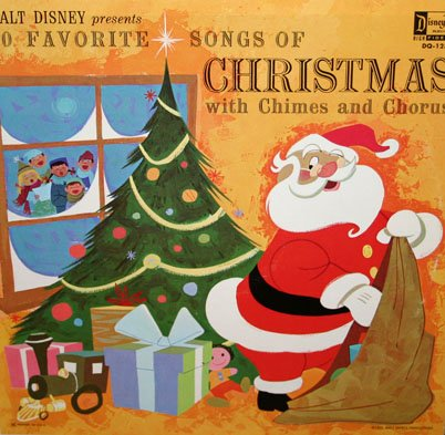 Walt Disney presents 30 Favorite Songs Of Christmas (with Chimes and Chorus) - Holiday Music LP/CD