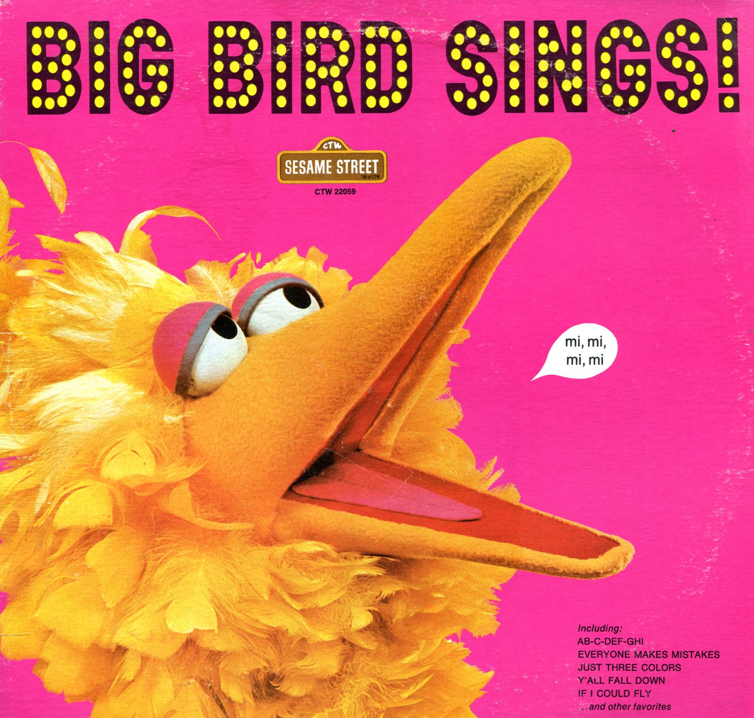 Big Bird Sings - Original TV Soundtrack, Sesame Street OST LP/CD