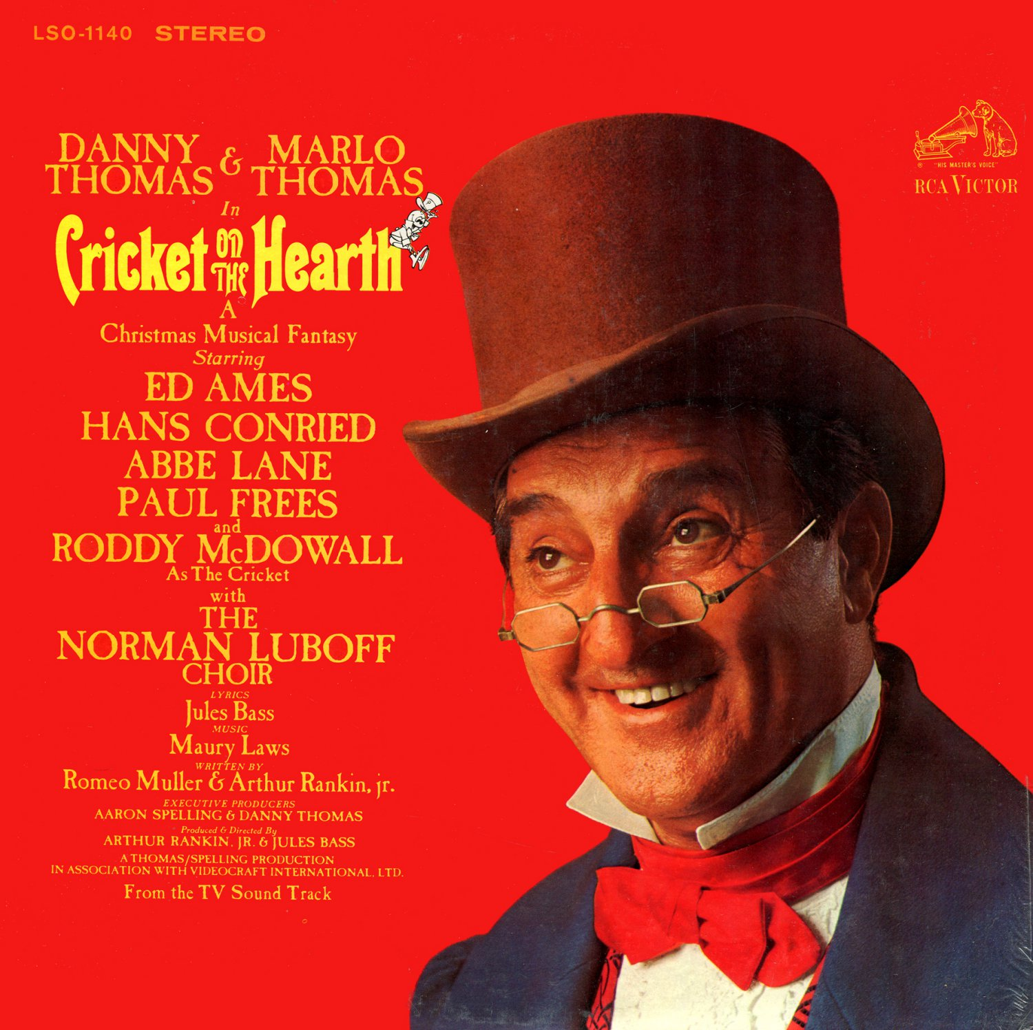 Cricket On The Hearth, A Christmas Musical Fantasy - Original TV Soundtrack, Marlo Thomas LP/CD
