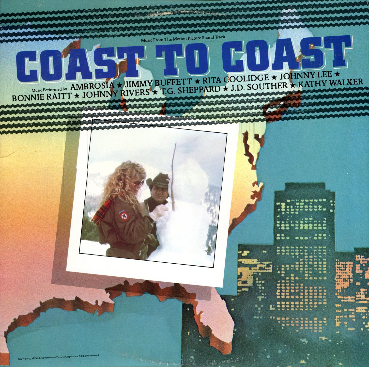 Coast To Coast - Original Soundtrack, Johnny Lee OST LP/CD