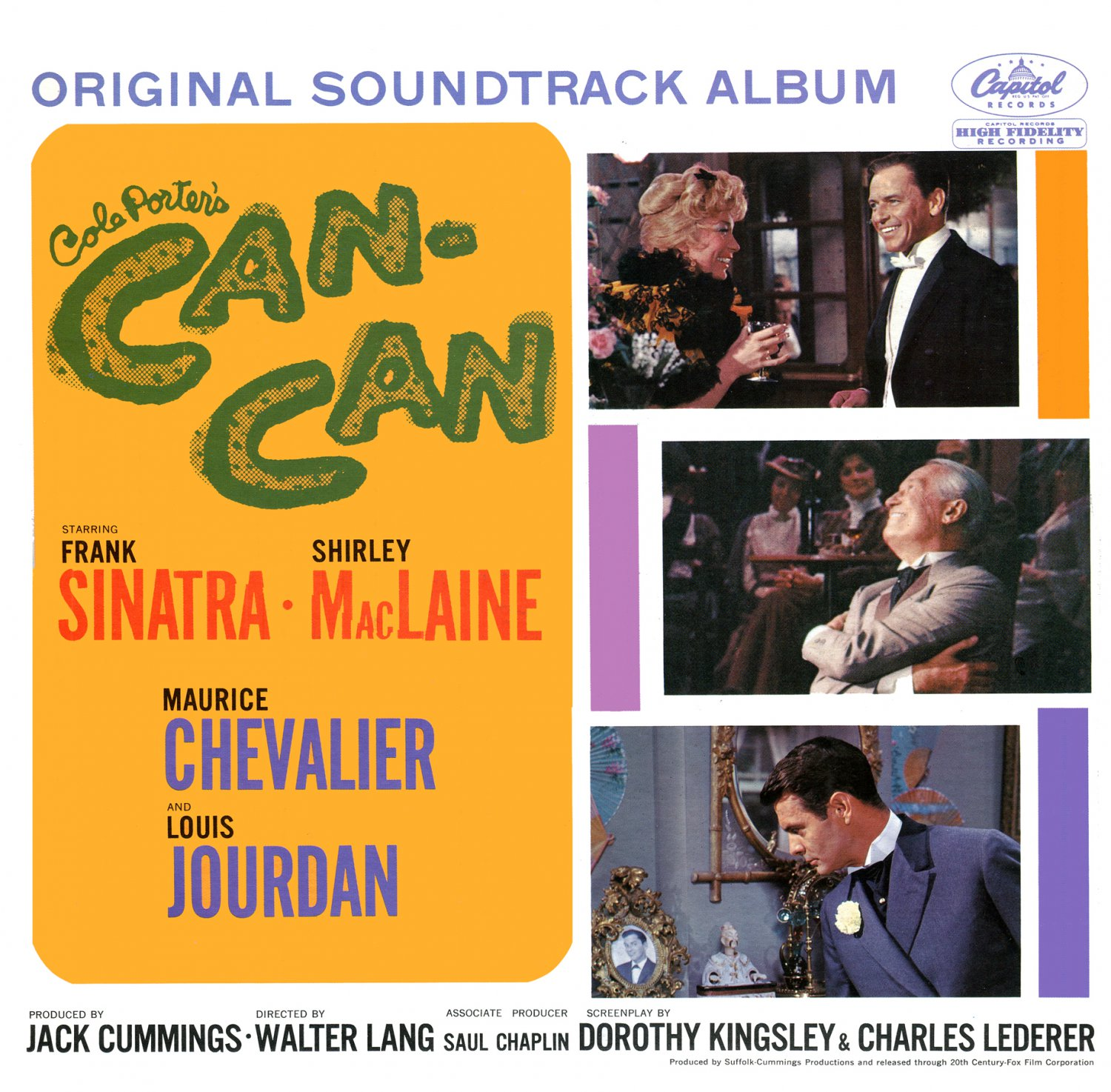 Cole Porter's Can-Can (1960) - Original Film Soundtrack, Frank Sinatra & Shirely MacLaine OST LP/CD