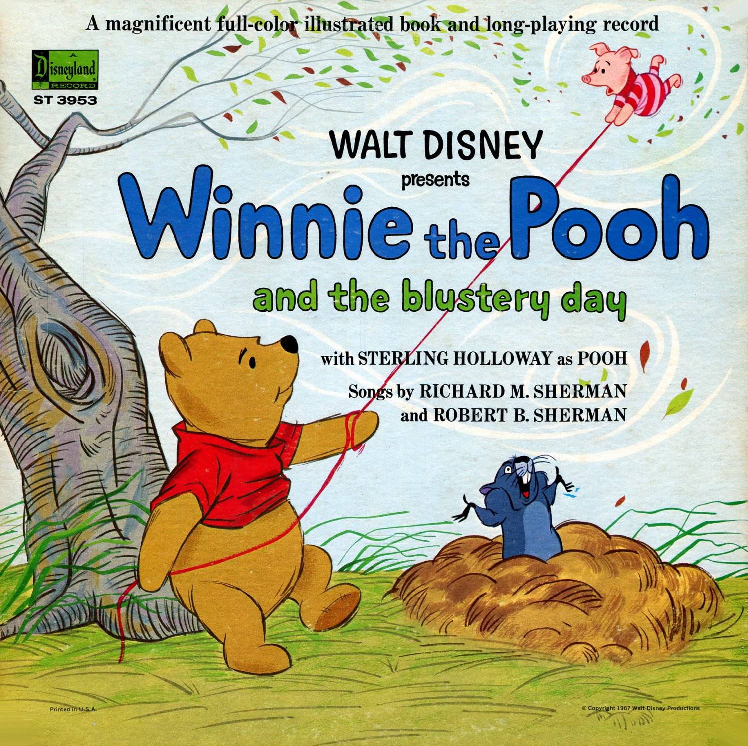 Winnie The Pooh and the Blustery Day - Disney Story Soundtrack, Sherman Brothers LP/CD