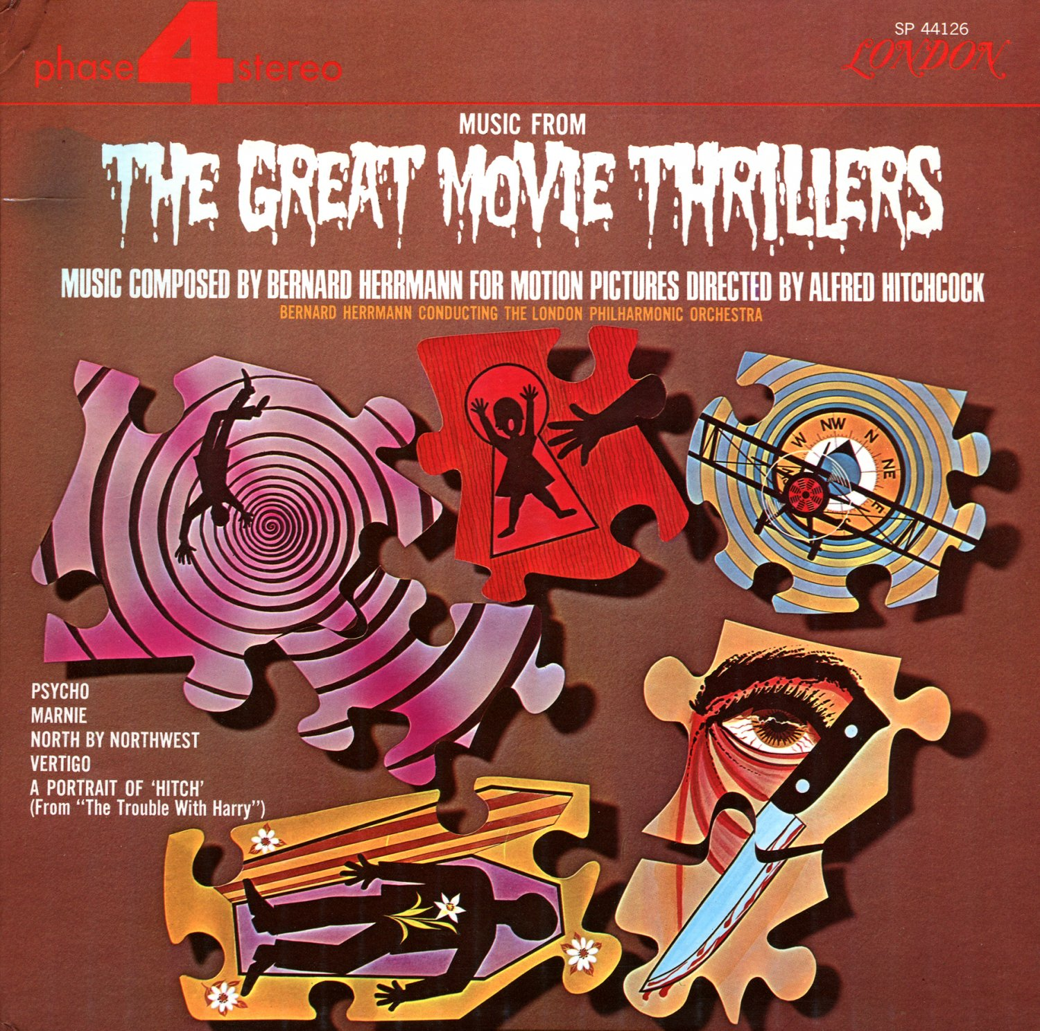 Music From The Great Movie Thrillers - Bernard Herrmann/Aflred Hitchock Collection LP/CD