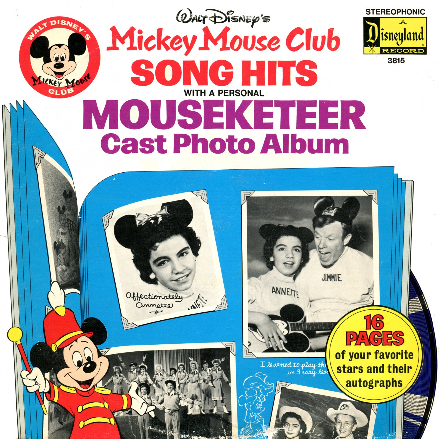 Mickey Mouse Club Song Hits Walt Disney Soundtrack Mouseketeer