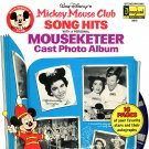 Mickey Mouse Club Song Hits - Walt Disney Soundtrack, Mouseketeer Cast Album LP/CD