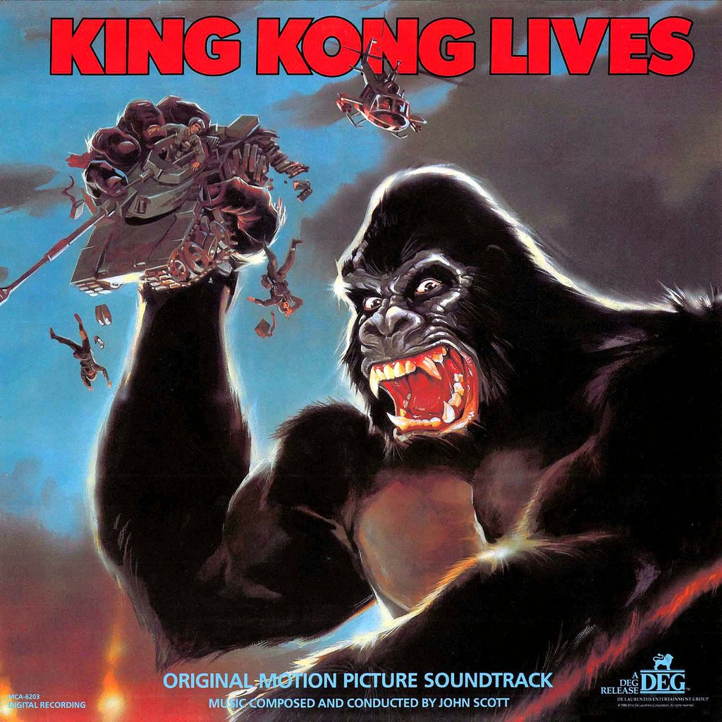 King Kong Lives (King Kong 2) - Original Soundtrack, John Scott OST LP/CD