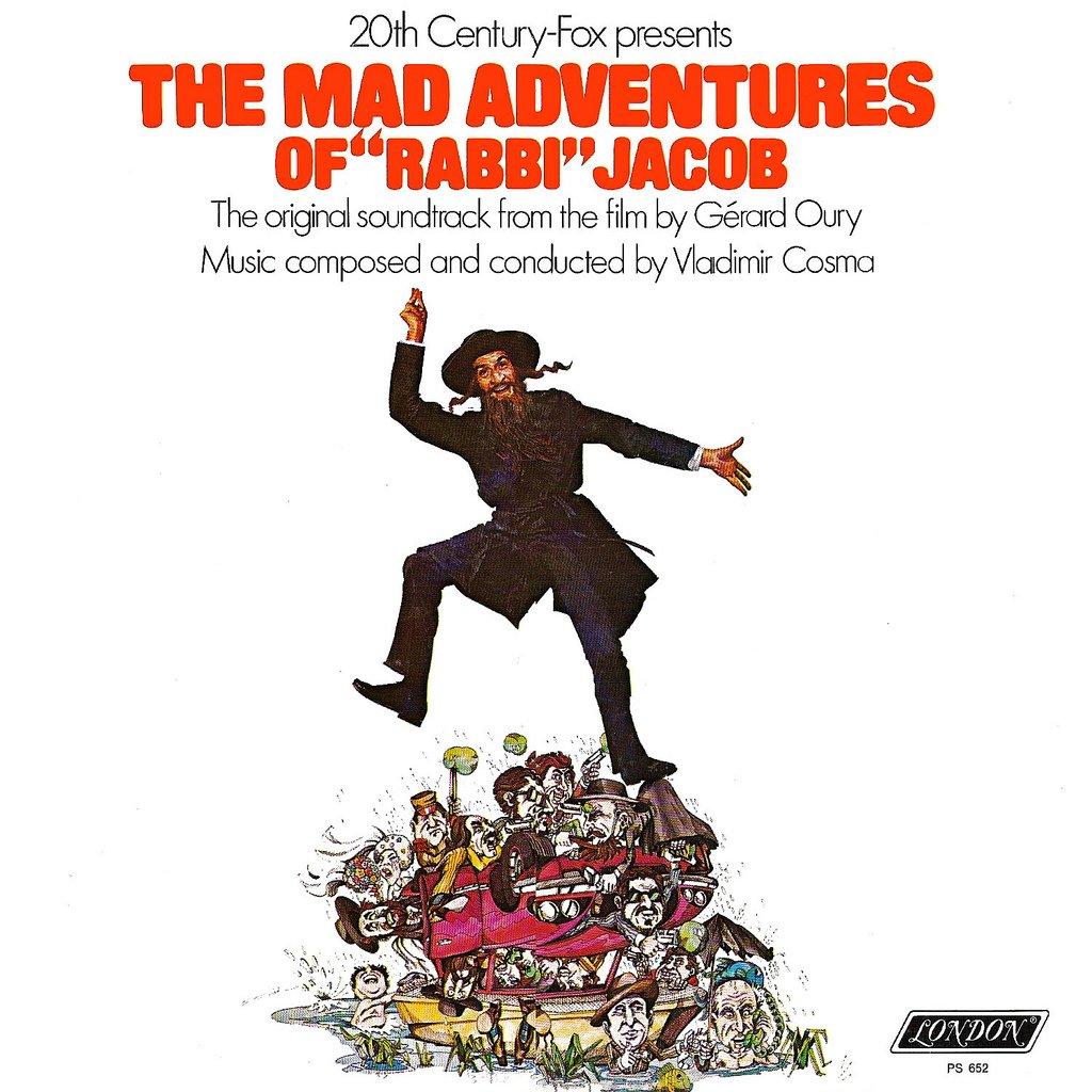 The Mad Adventures Of Rabbi Jacob - Original Soundtrack. Vladimir Cosma OST LP/CD