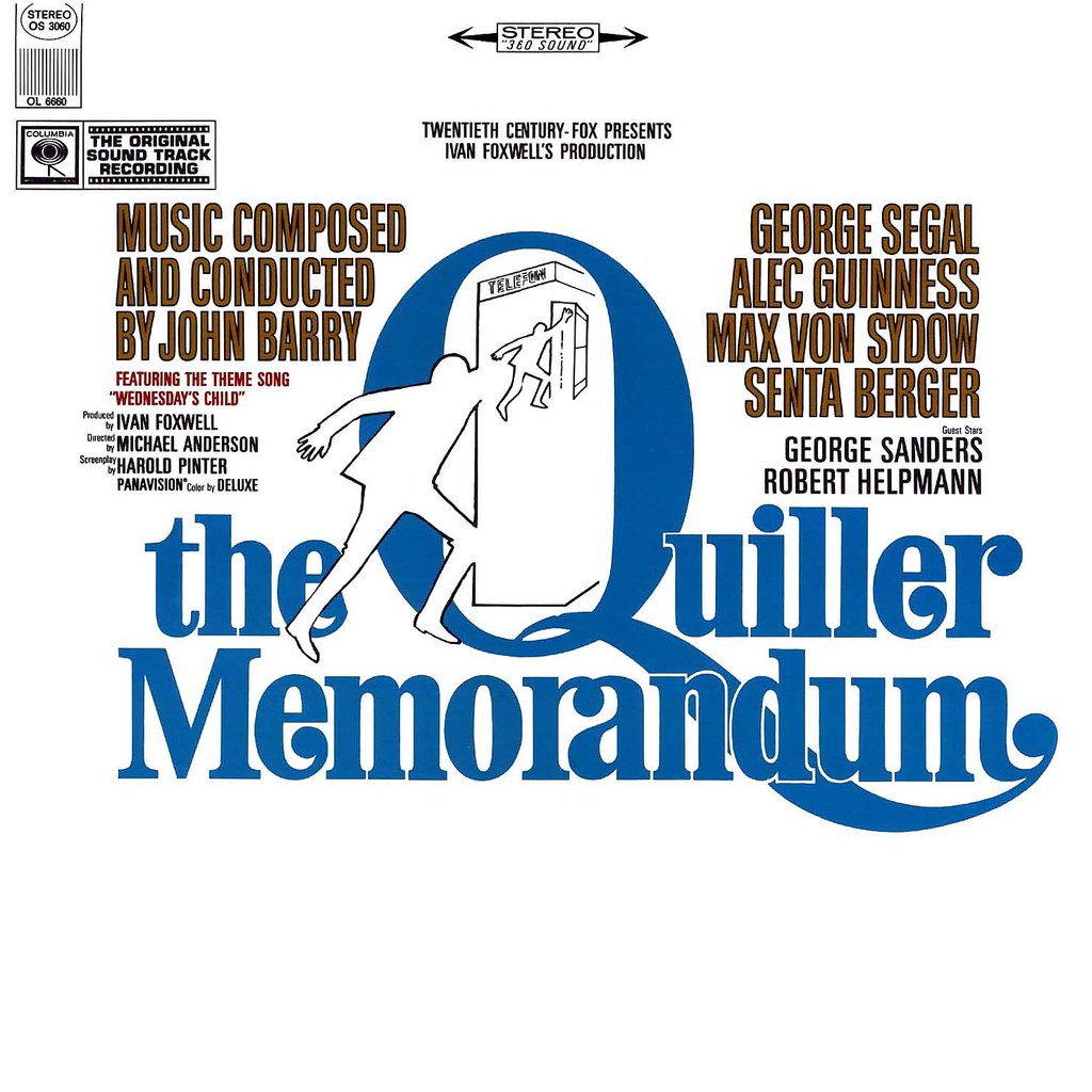 The Quiller Memorandum - Original Soundtrack, John Barry OST LP/CD