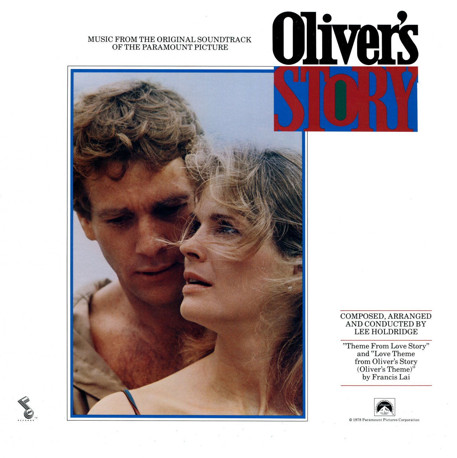 Oliver's Story - Original Soundtrack, Lee Holdridge OST LP/CD