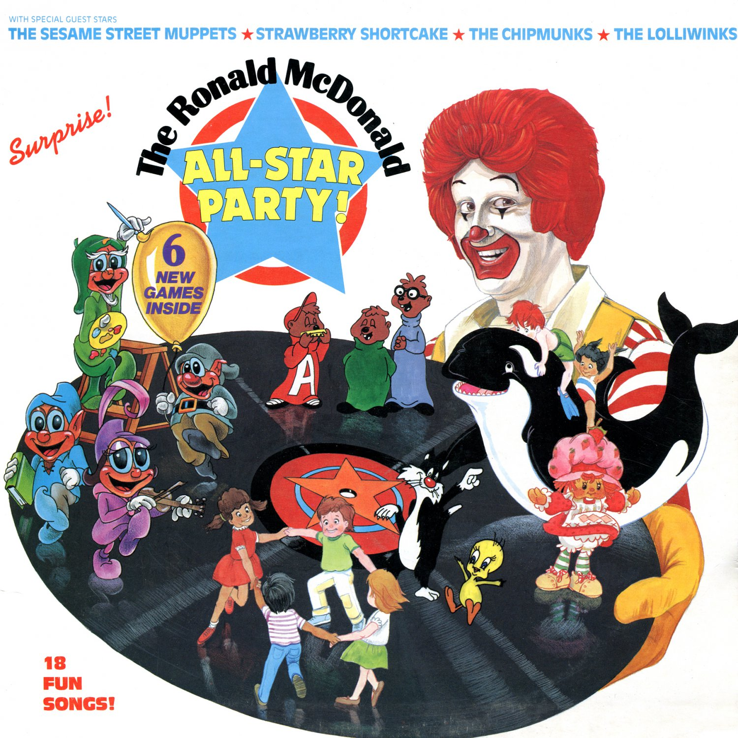 The Ronald McDonald All-Star Party (1982) - Original Soundtrack, Muppets & Chipmunks LP/CD