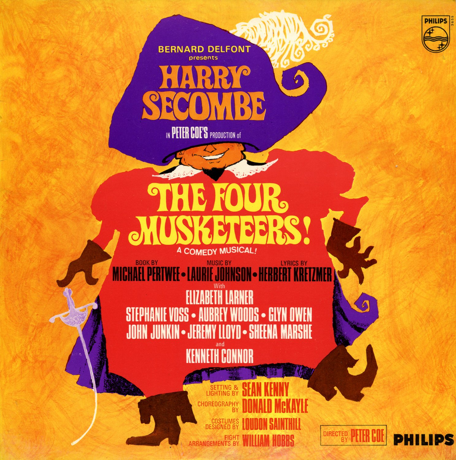 The Four Musketeers! - A Comedy Musical, Harry Secombe OST LP/CD